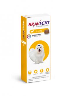 Bravecto Masticable contra Pulgas/Garrapatas 2 a 4,5Kg