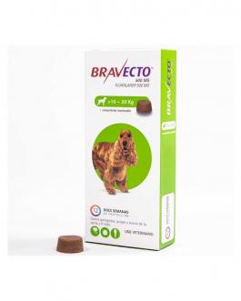 Bravecto Masticable contra Pulgas/Garrapatas 10 a 20Kg.