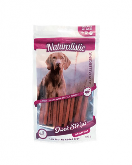 ATURALISTIC SNACK DUCK STRIP 100 GRS