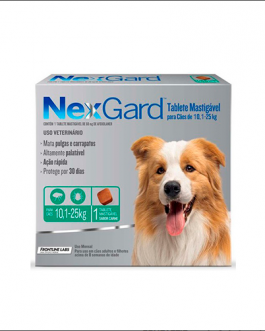 Nexgard 1 comprimido 10,1 a 25 kg