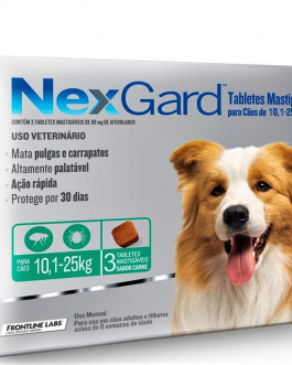 Nexgard 3 comprimidos 10,1 a 25 kg