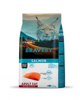 BRAVERY ADULT CAT STERILIZED SALMÓN